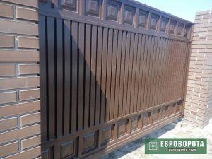 Коричневые ворота филенка в Харькове